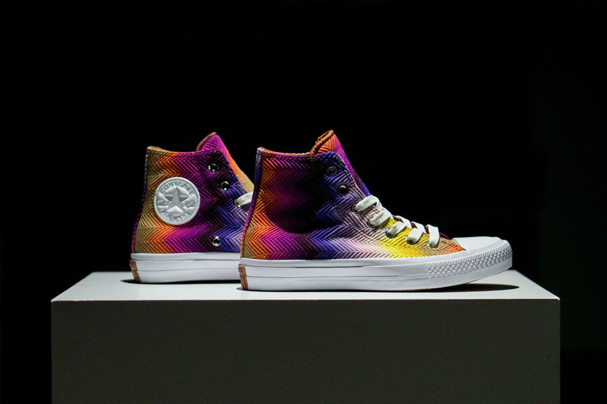 e565073a9c132c The Converse Chuck II is reworked by Italian fashion house Missoni