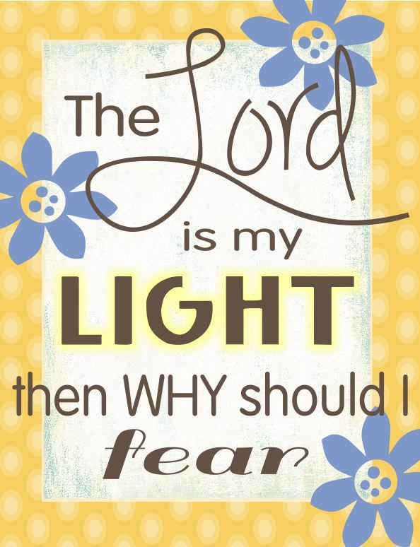 My Light And Airy Living Room Transformation: King James Bible A Psalm Of David. The LORD Is My Light