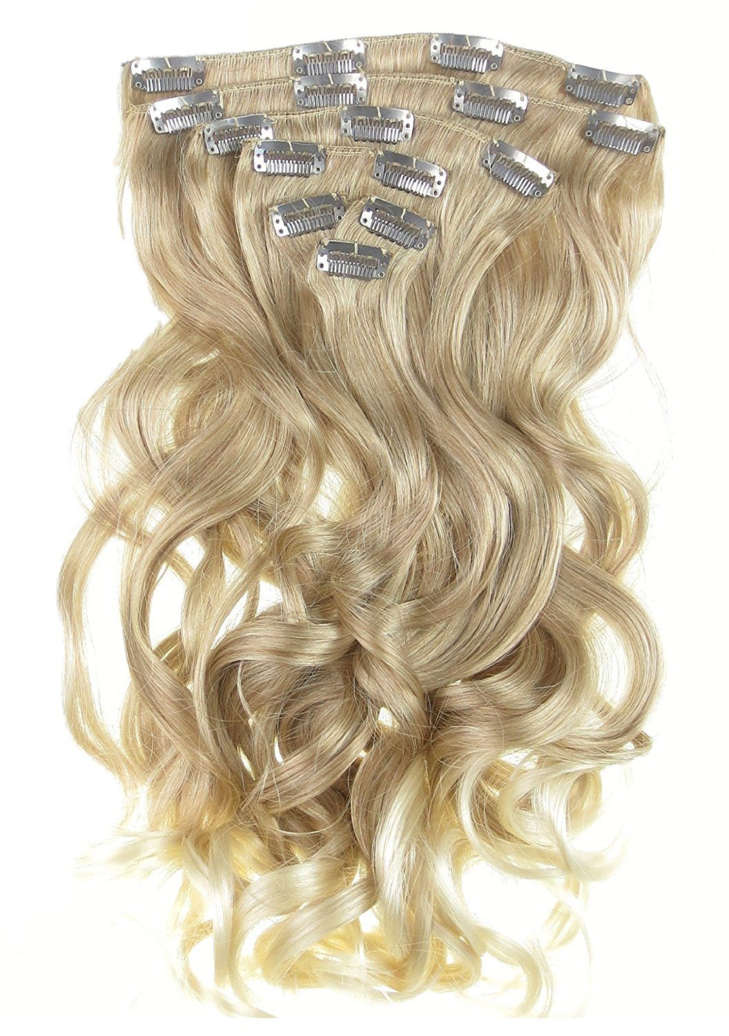 New Real Look Hair Extension Strawberry Blond Nordic Blonde Mix