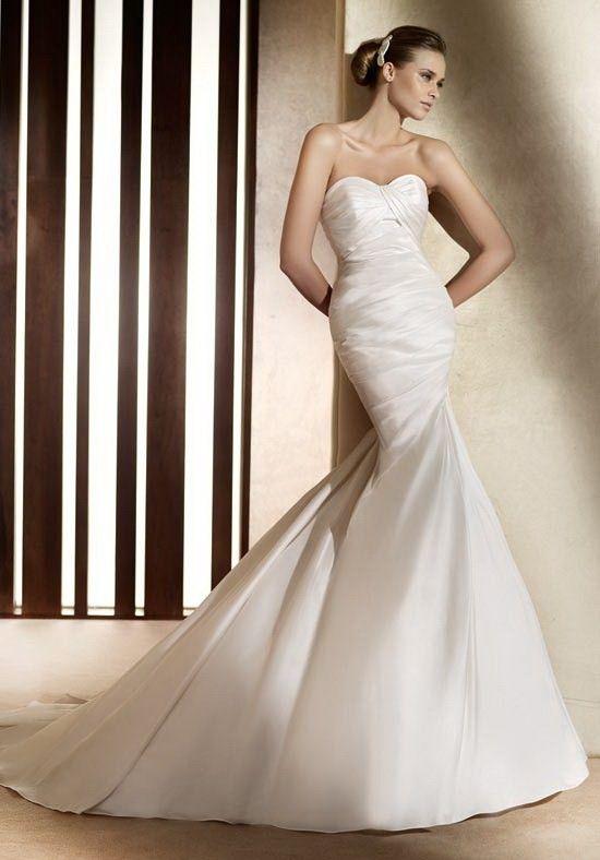 Mermaid Sweetheart Satin Court wedding Dress Style Alma $302.99 home