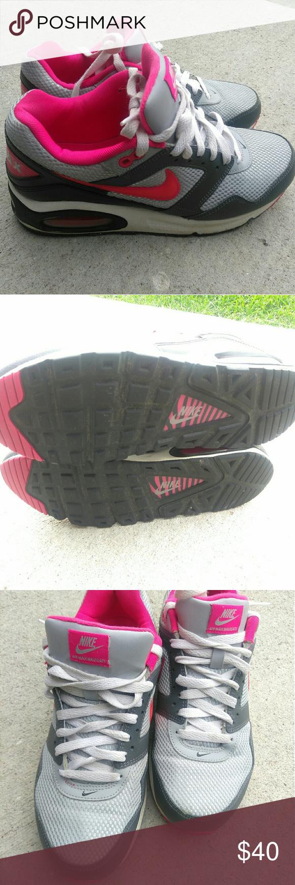 NIKE AIR MAX NAVIGATE 454249-002 Gray Hot Pink 8.5