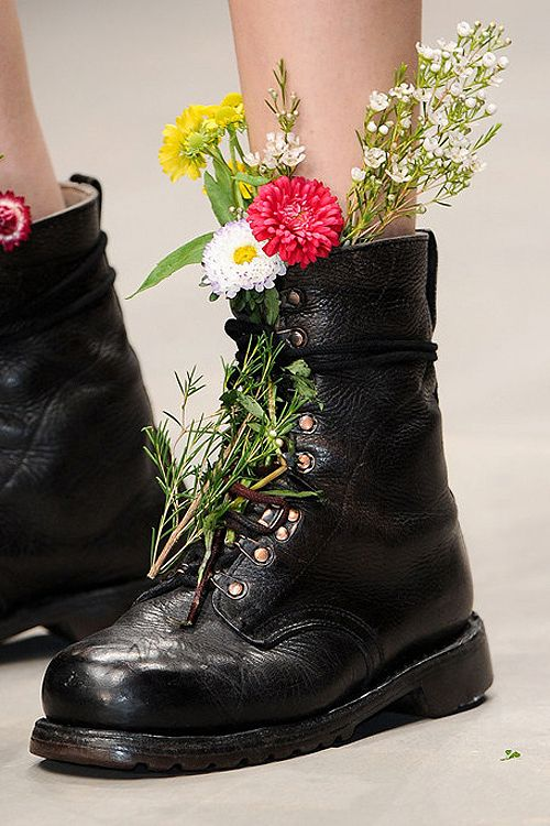Wear Wild Flowers In Combat Boots