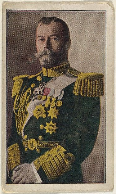 Card No. 1, Czar Nicholas of Russia, from the World War I Scenes series (T121) issued by Sweet Caporal Cigarettes, ca. 1914. The Metropolitan Museum of Art, New York. The Jefferson R. Burdick Collection, Gift of Jefferson R. Burdick (Burdick 246, T121.1)