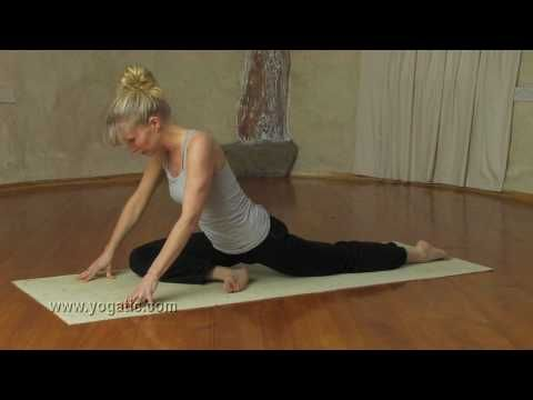 yin yoga with esther  poses you hold for 35 minutes