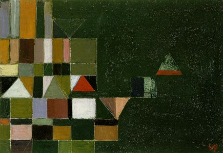 Victor Pasmore, Square Motif: Green and Lilac