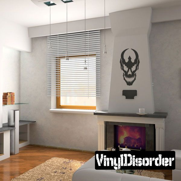 Skull Wall Decal - Vinyl Decal - Car Decal - CF332