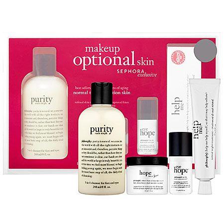 Makeup Optional Skin Kit Philosophy Sephora Sephora Hair And Makeup Tips Skin Care Gifts