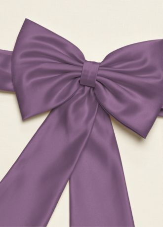 c2c7f7b5a5a Beautiful David s Bridal wisteria satin flower girl sash