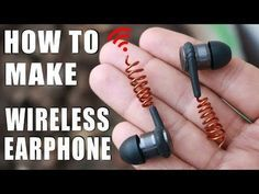How to make simple wireless headphones without cut them DIY