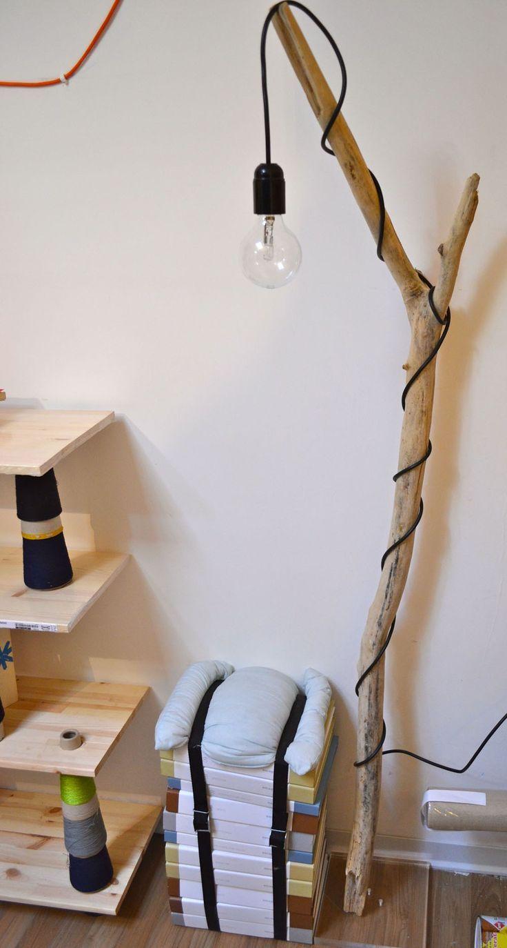 Créer une lampe avec un tronc d arbre 20 idées sublimes