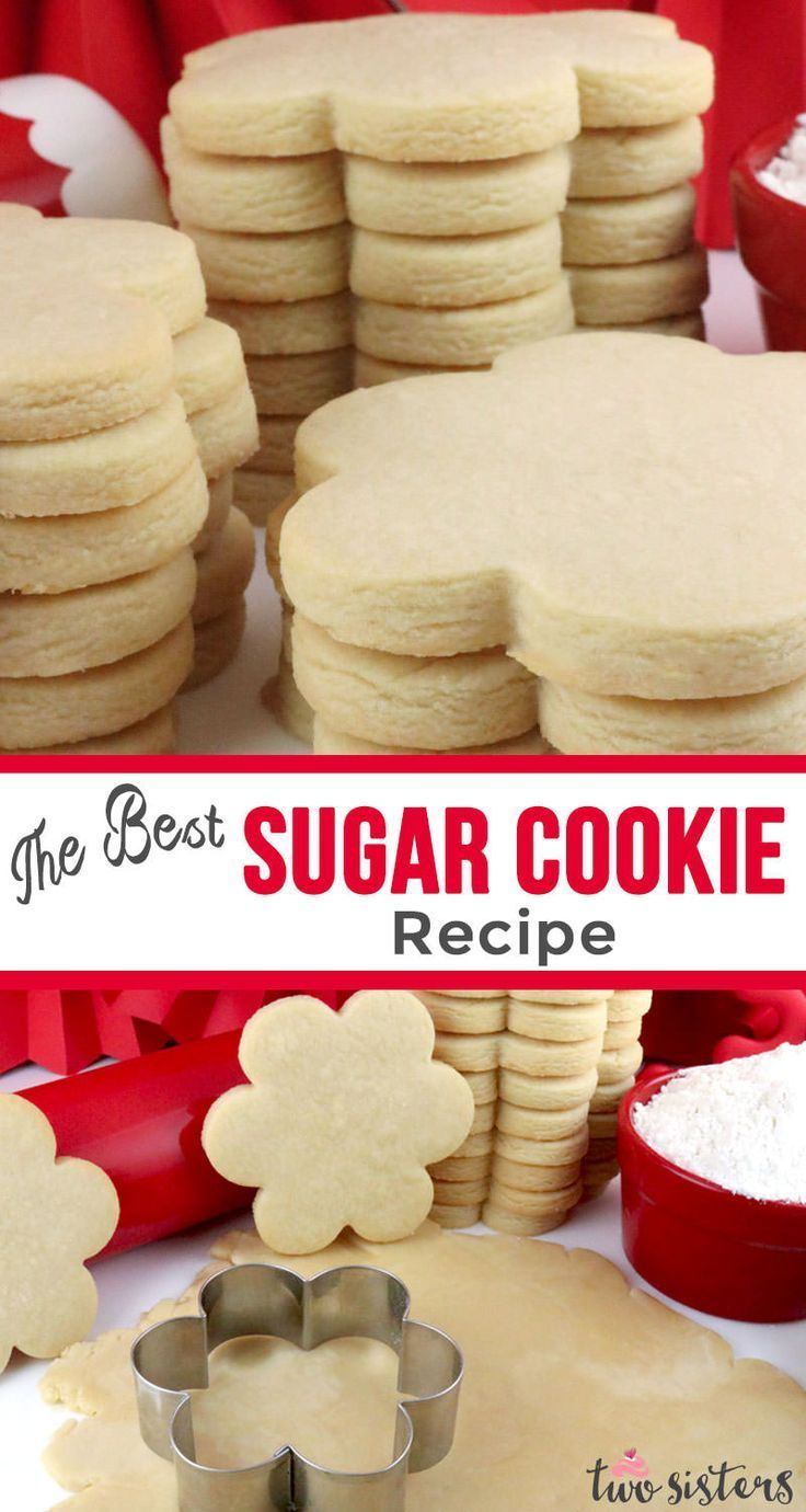The Best Sugar Cookie Recipe - easy to make, soft, delicious and keeps the shape of the cookie cutter every single time. You family will beg you to make these yummy homemade Sugar Cookies again and again. Pin this super great Sugar Cookie for later and follow us for more great Cookie Recipe ideas.