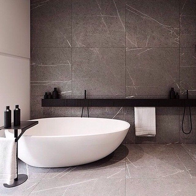 Grey And White Marble Bathroom: Ultra Modern Black And White Bathroom
