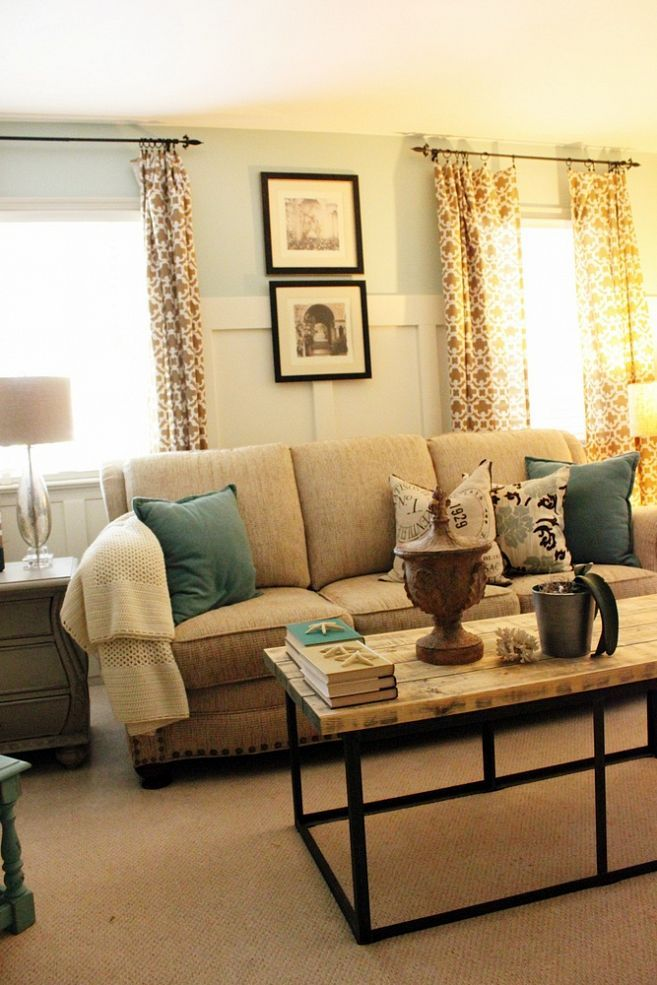 Redecorated family room revealed. We added board and batten and did ...