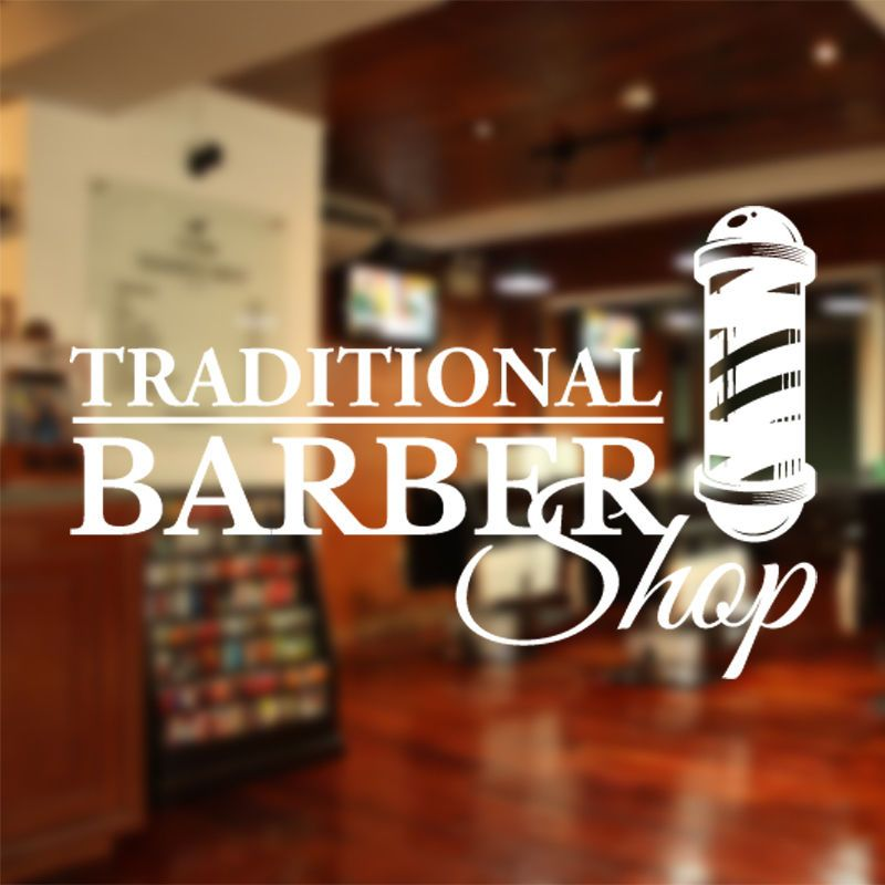 Barber Shop Sign Barber shop window decal barber shop sticker
