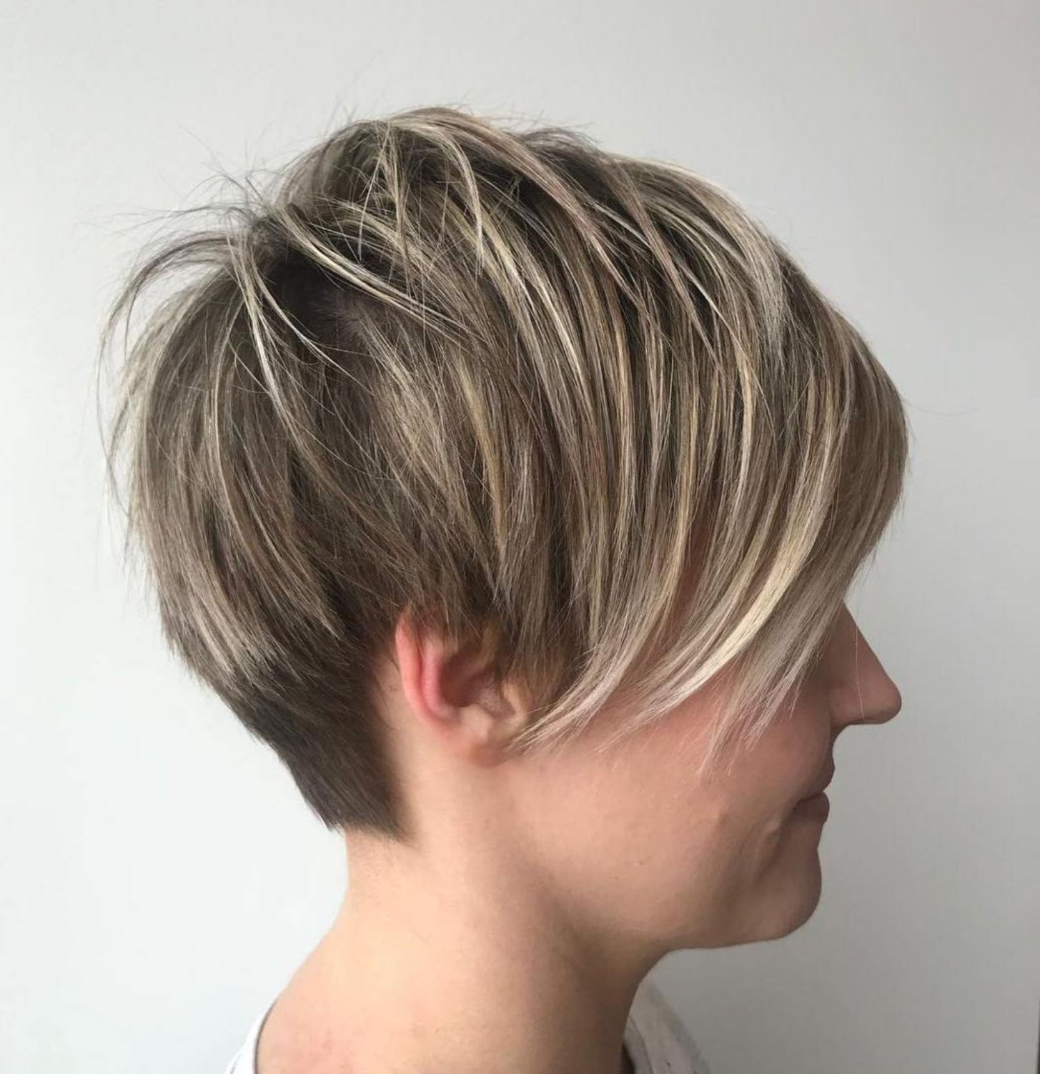 Platinum hair color boy pixie haircuts with bangs   terrific tapers  short hairstyles