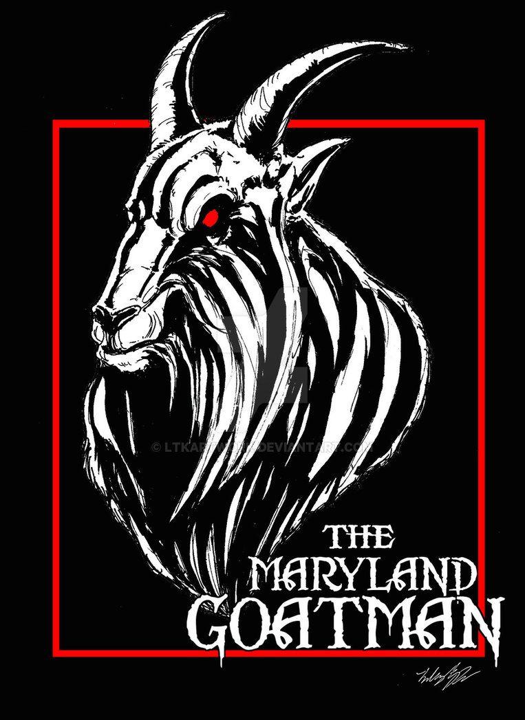 The Maryland Goatman By Ltkartwork Deviantart Com On Deviantart Deviantart Art Poster