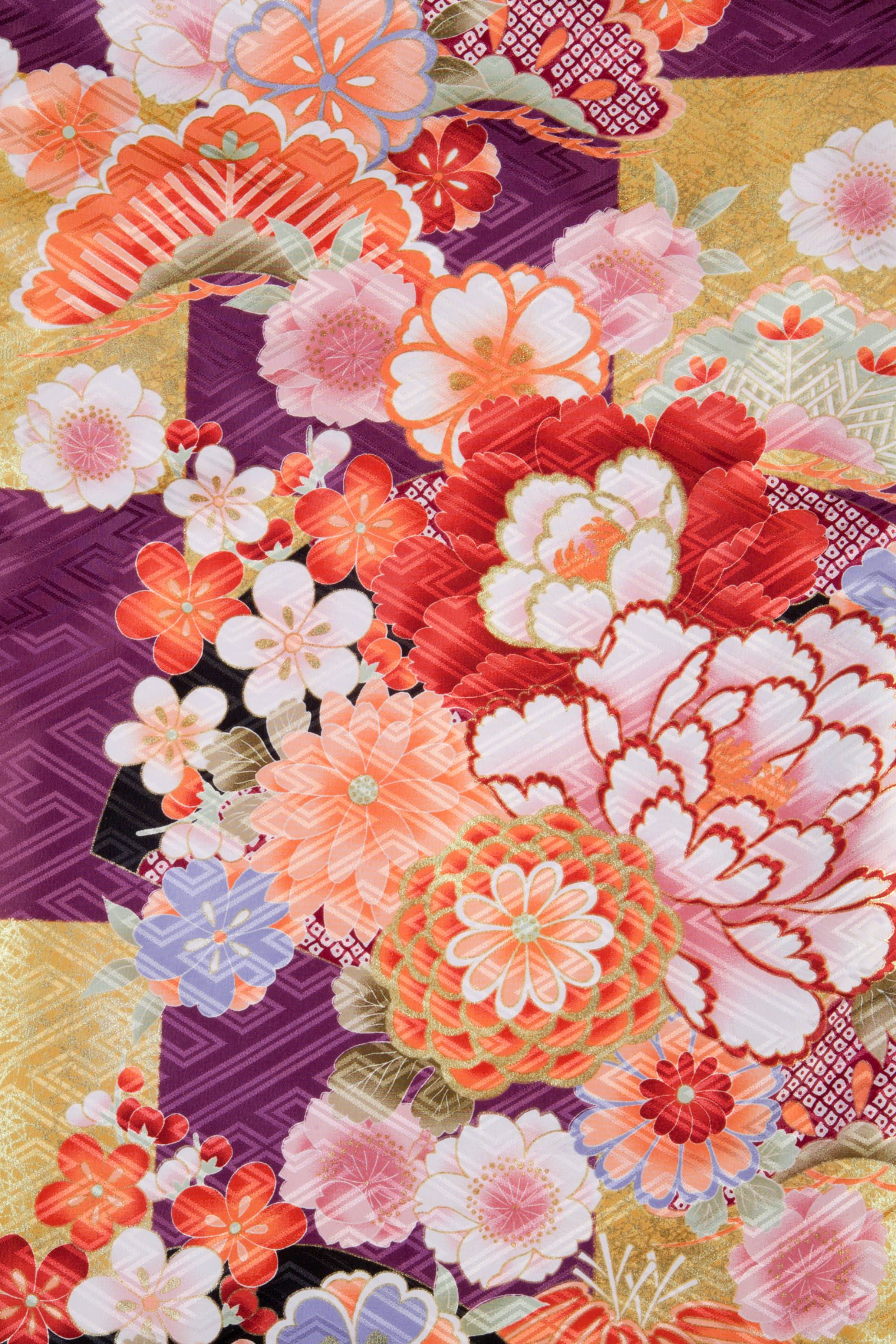 着物 No:872 商品名:紫 古典大市松 | 卒業衣装&袴 Hakama | Pinterest | Kimonos