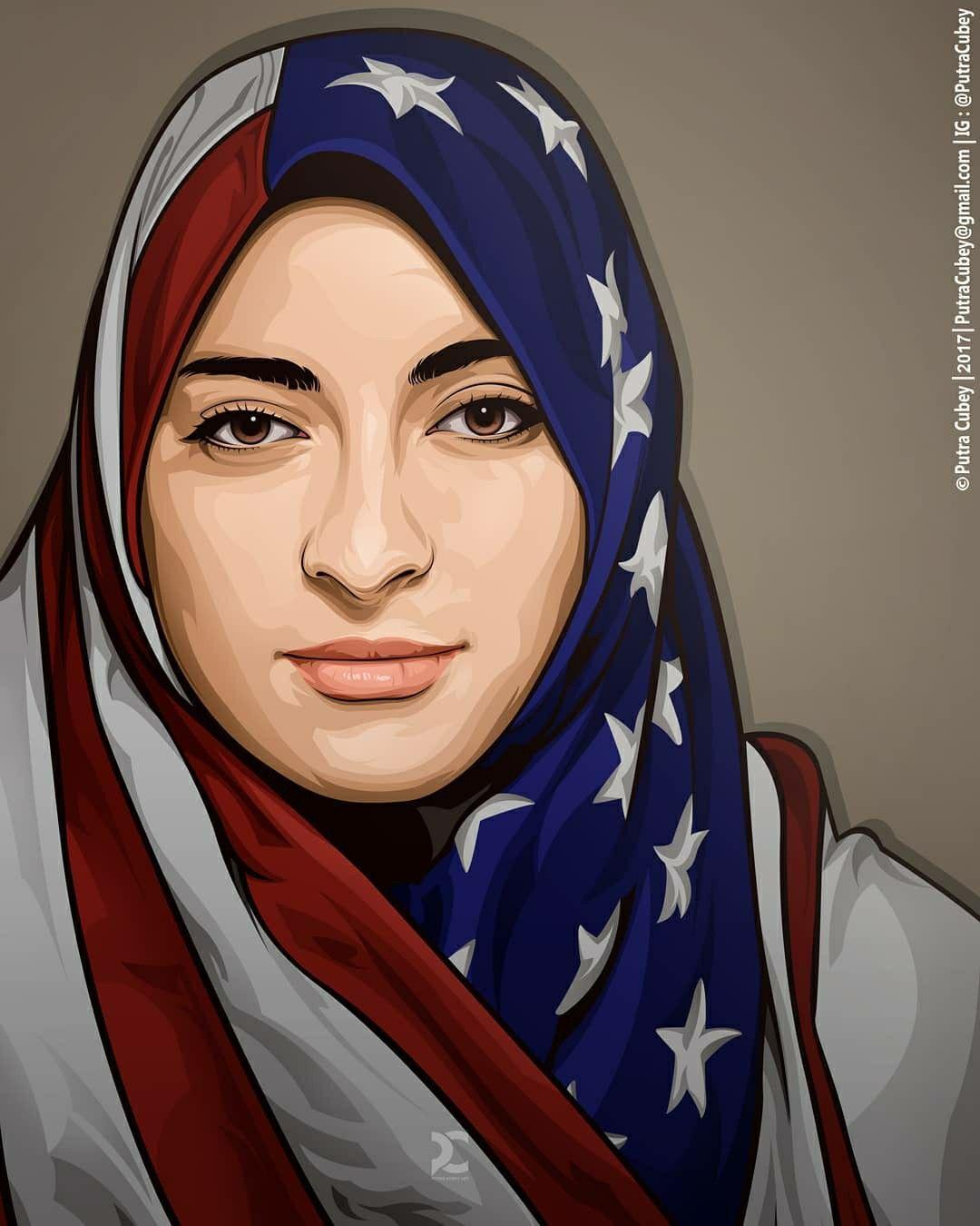Hijab Vector Kartun