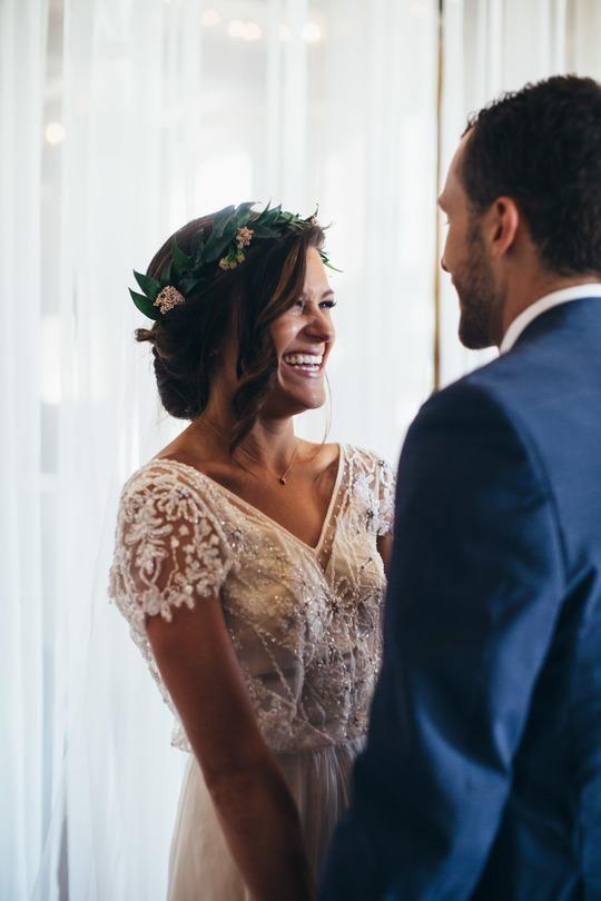 Lace A Line Wedding Dress Ivory Sweetheart Wedding Dress # VB4833 11