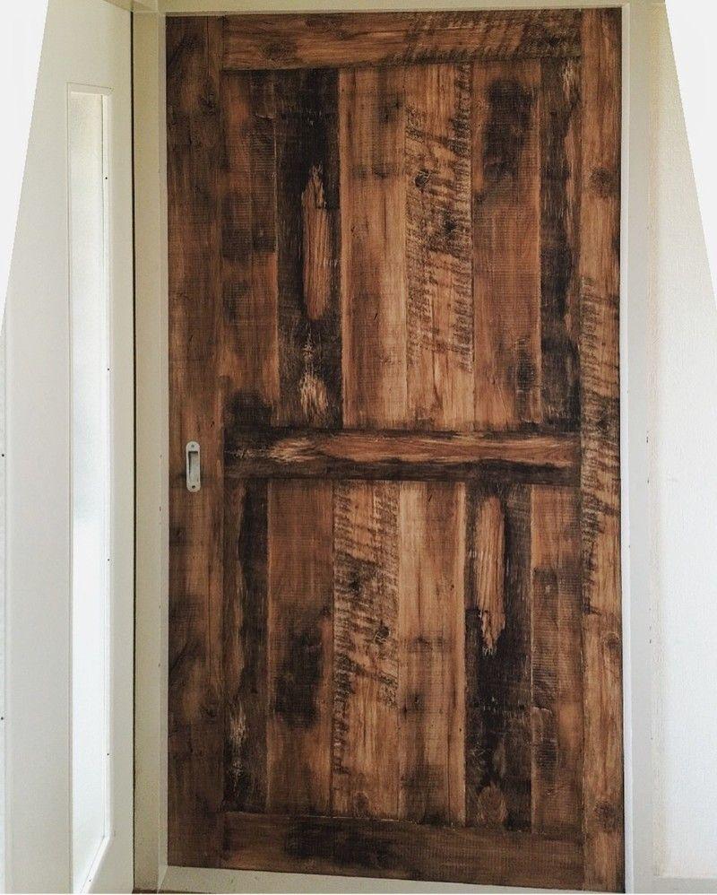 壁紙アレンジ 賃貸のドアを作る 玄関ドア Diy ドア 壁紙