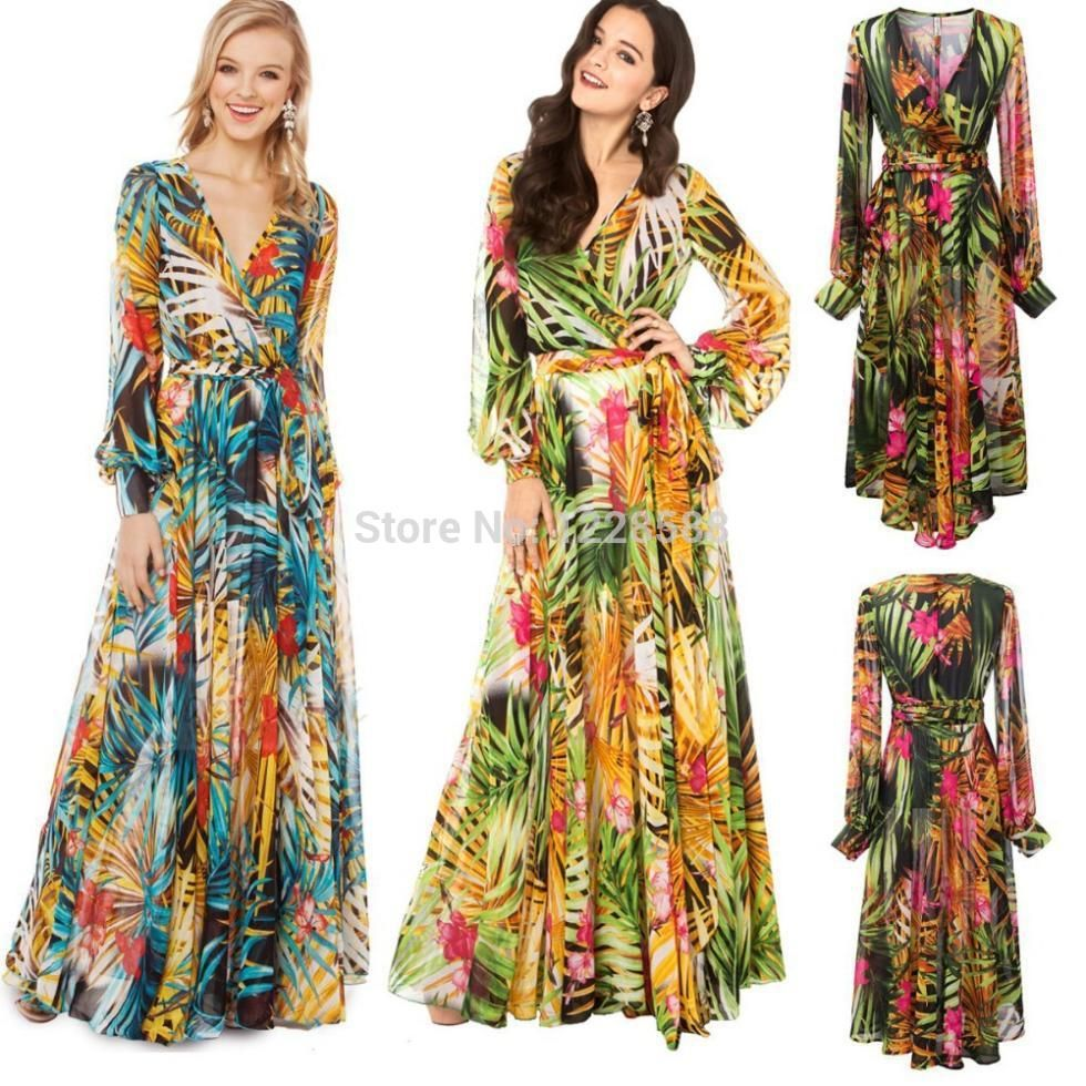 Maxi dress long sleeve pattern | BOHO | Pinterest