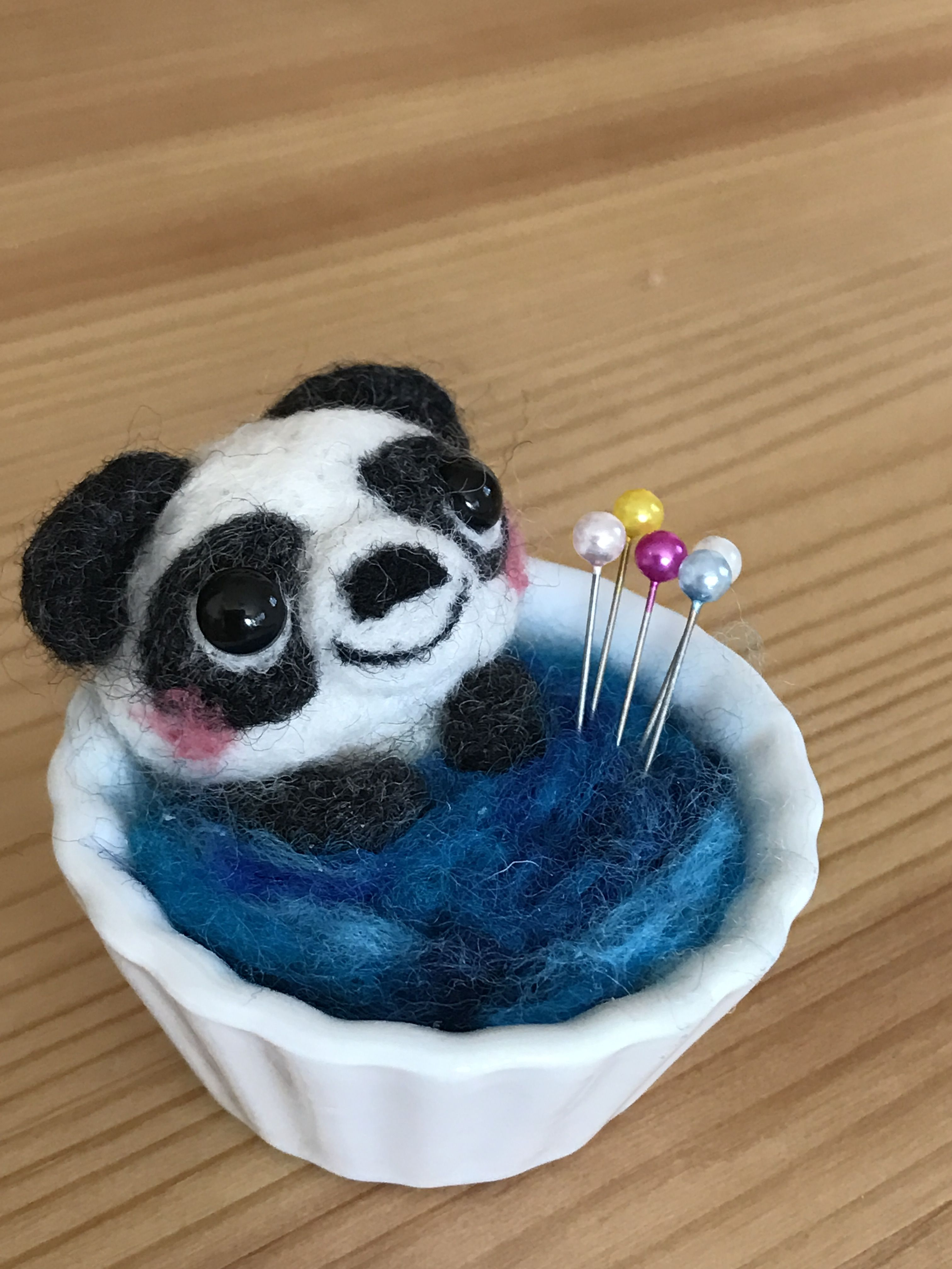 パンダの針刺し