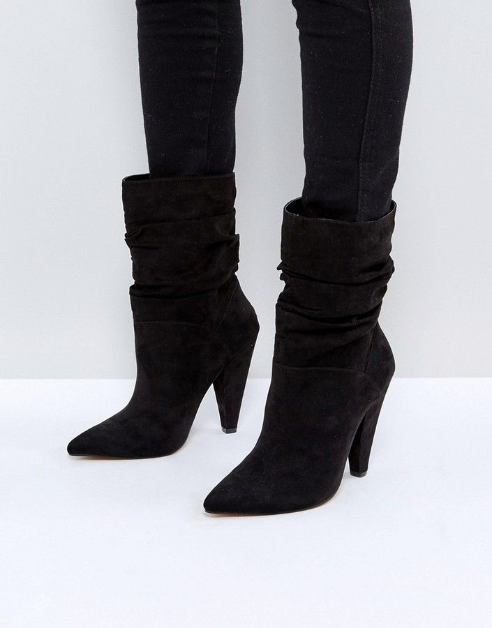 These Slouch Heeled Boots are perfect