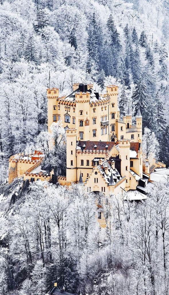 Castle Hohenschwangau In Winter Bavaria Germany Beautiful Castles Castle Fairytale Castle
