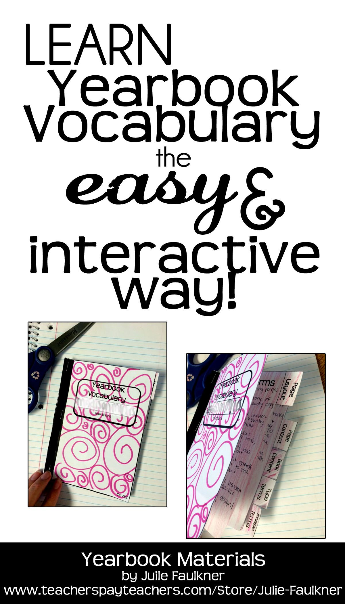 Yearbook Vocabulary Teaching Pack Ppt Interactive