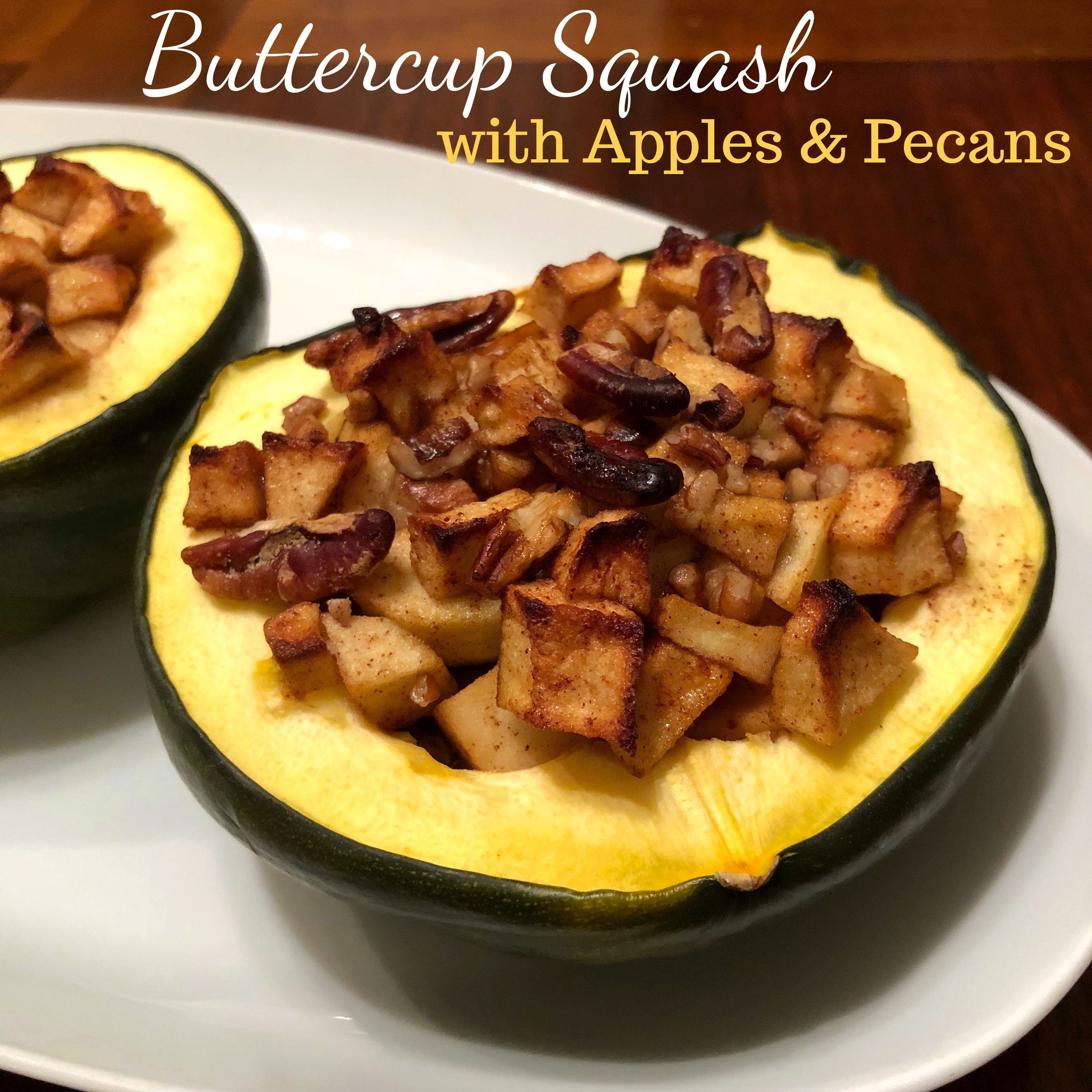 Buttercup Squash With Apples And Pecans Recipe Buttercup