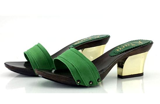 08bdf09ba04 WOMAN GREEN CLOGS HEEL GOLD-K28201  fashion  clothing  shoes  accessories   womensshoes  sandals (ebay link)