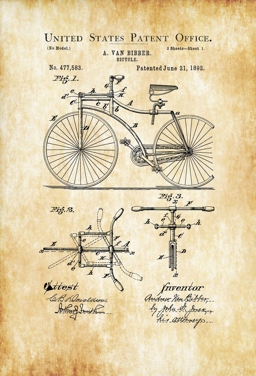 1892 bicycle patent cyclist gift bicycle decor vintage bicycle 1892 bicycle patent cyclist gift bicycle decor vintage bicycle bicycle blueprint bicycle art bicycling enthusiasts bike patent malvernweather Images