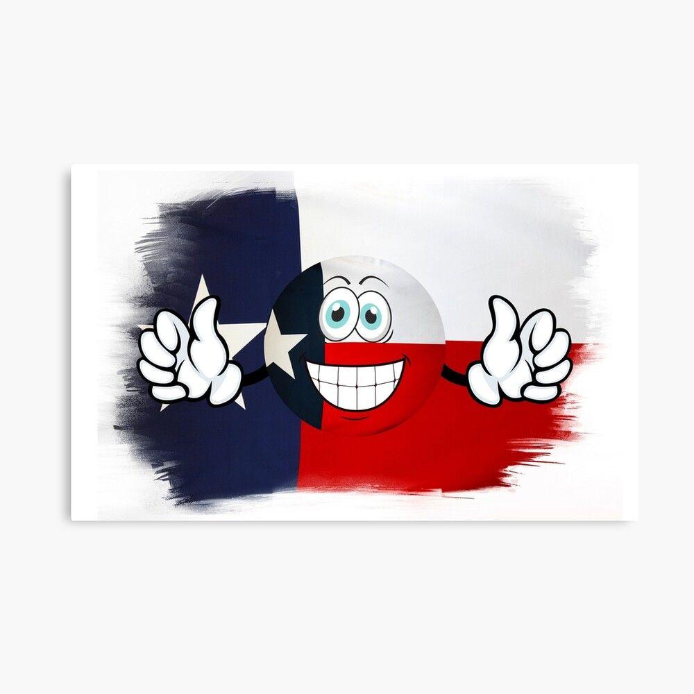 Texas Texas Flag Effect American Flag Usa Flag Emoji Smiley Canvas Print By Michisway In 2020 Canvas Prints American Flag Flag Emoji