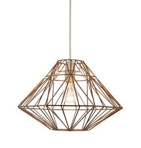 George home bronze effect wire origami pendant lighting george george home bronze effect wire origami pendant lighting george at asda greentooth Image collections