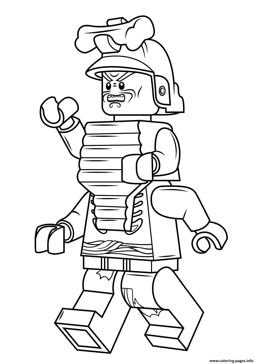 Print Lego Ninjago Lord Garmadon Coloring Pages Christmas