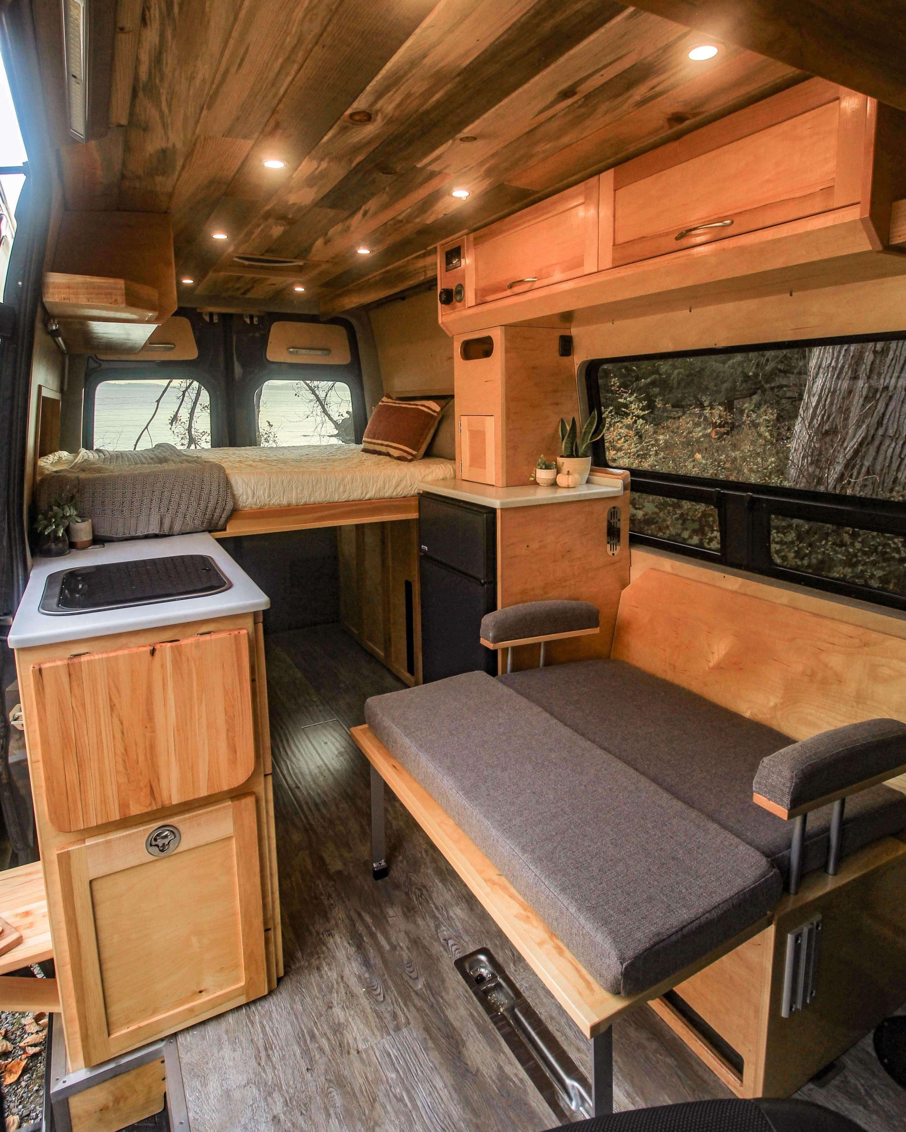 Half Dome Campervan interior, Small motorhomes, Van interior