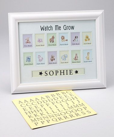 White Watch Me Grow Personalized Photo Frame By Havoc Gifts For