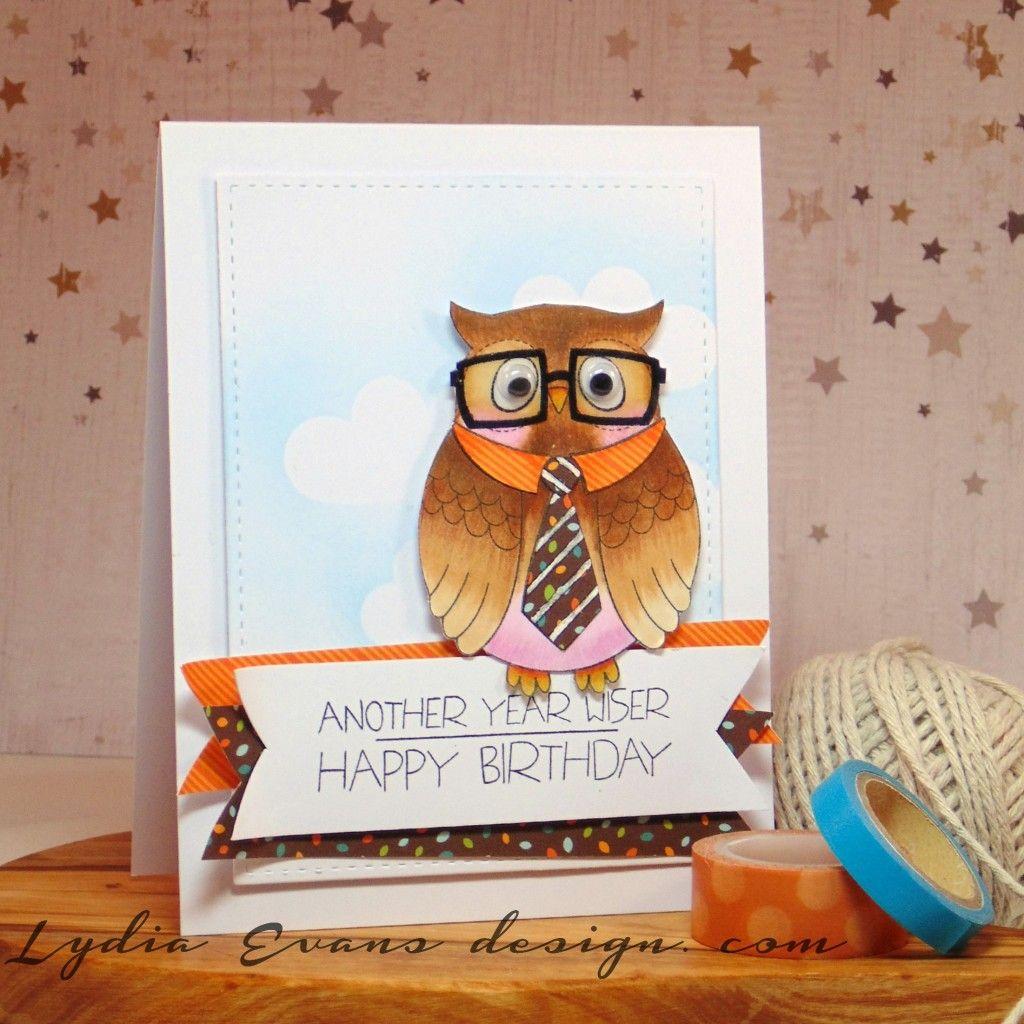 Owl Birthday Greeting Card Pinned By Myowlbarn Whooooters