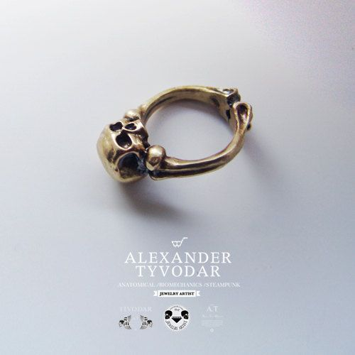Sancti juncture   gothic skull ring / Steampunk / by TYVODAR, $40.00