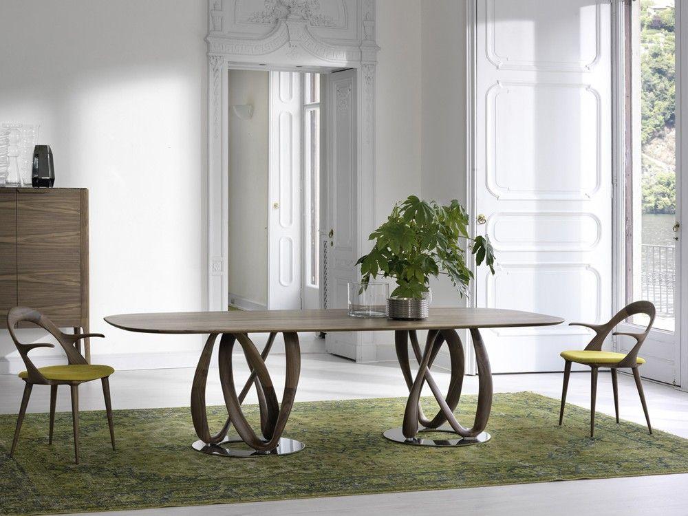 Porada Infinity Oval Wood Dining Table By S. Bigi   Chaplins
