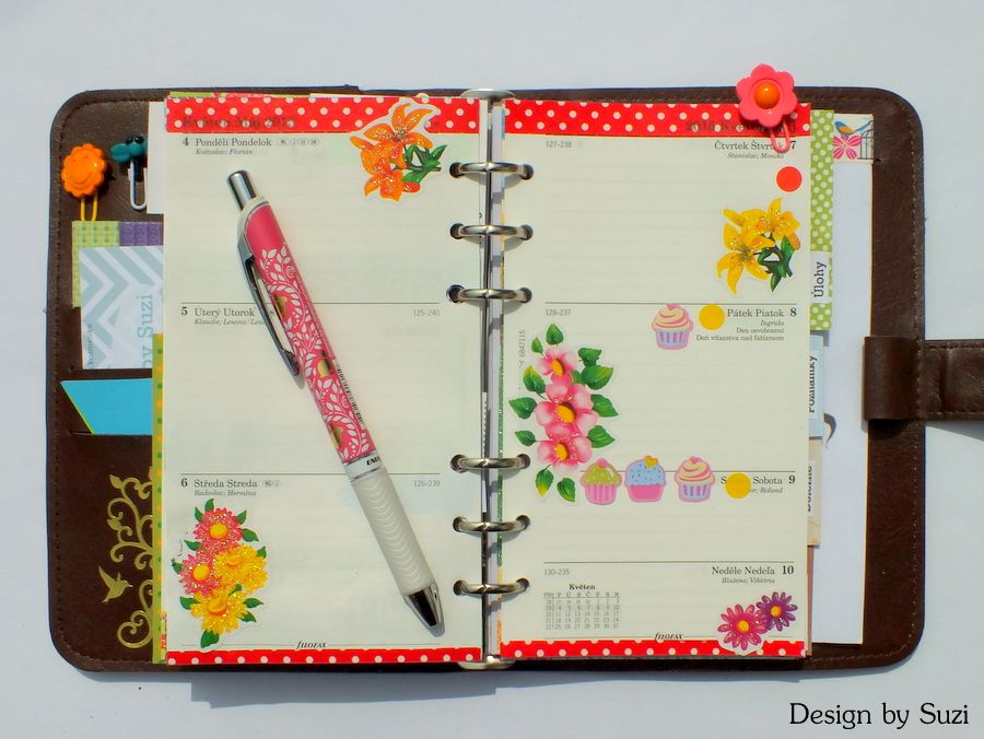 The week nr. 19 - dots and flowers #planner