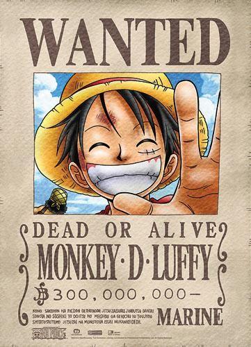 Photo of Luffy Wanted Anime WallScroll
