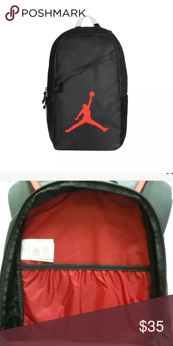 ffc60a79f0d Nike Air Jordan Backpack Laptop Bag Red Black Brand new with tags Nike Bags  Backpacks