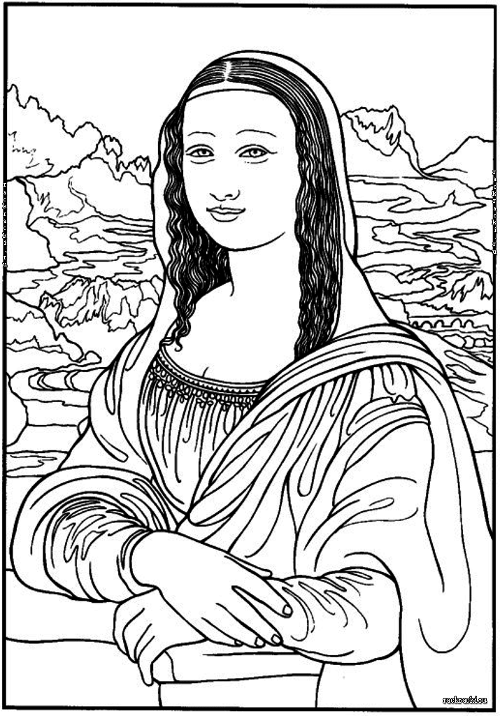 Mona Liza Fajl Png Mona Liza Populyarnoe Iskusstvo Raskraski