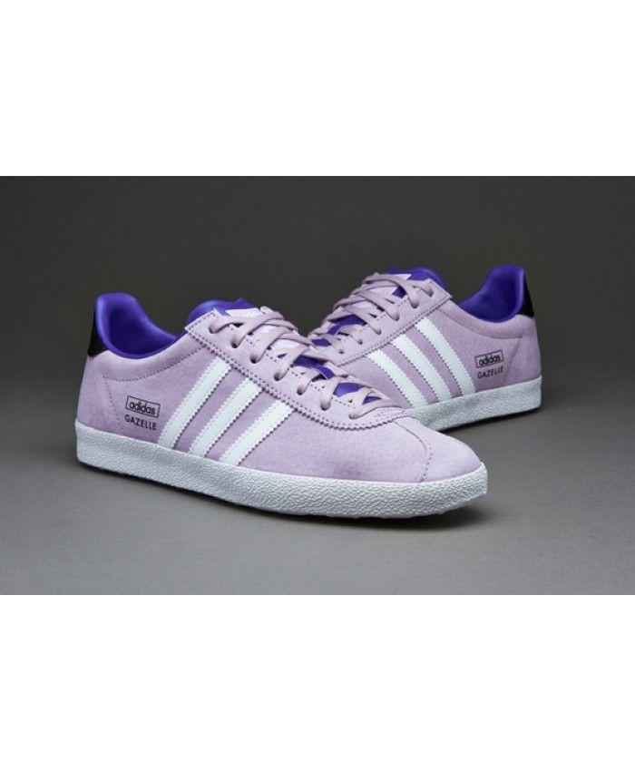 Adidas Gazelle Bliss Purple White Semi Night Flash Trainer ...