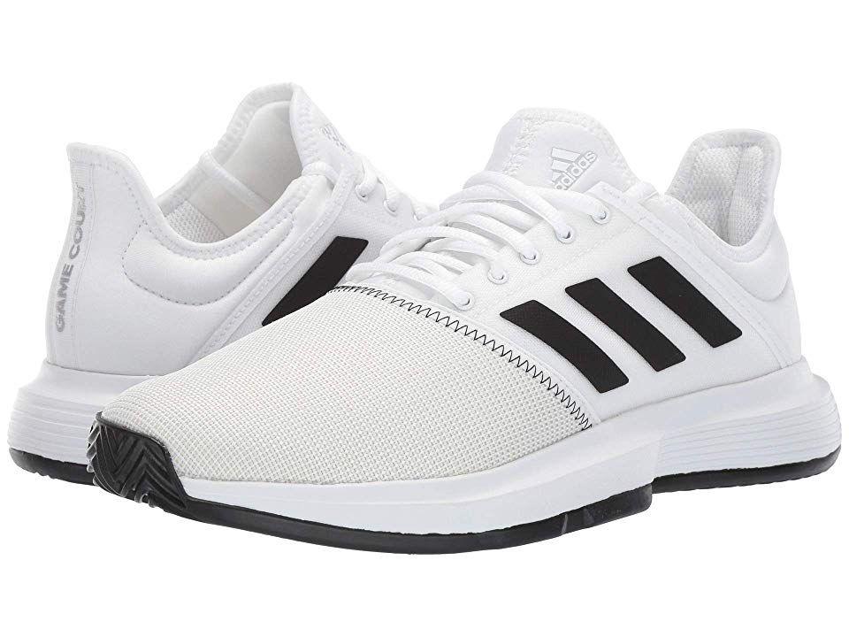 Adidas Gamecourt Men S Shoes Footwear White Core Black Grey One F17 Adidas Shoes Mens Tennis Shoes