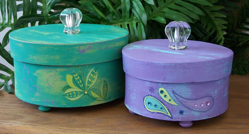 Paper Mache Boxes To Decorate decorative paper mache boxes Craft Ideas Pinterest 1