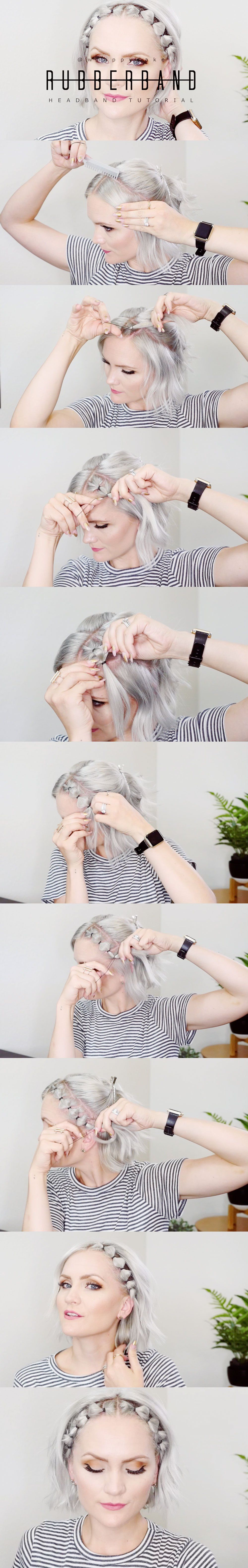 rubber band hair tutorial | hairstyles | short hair styles