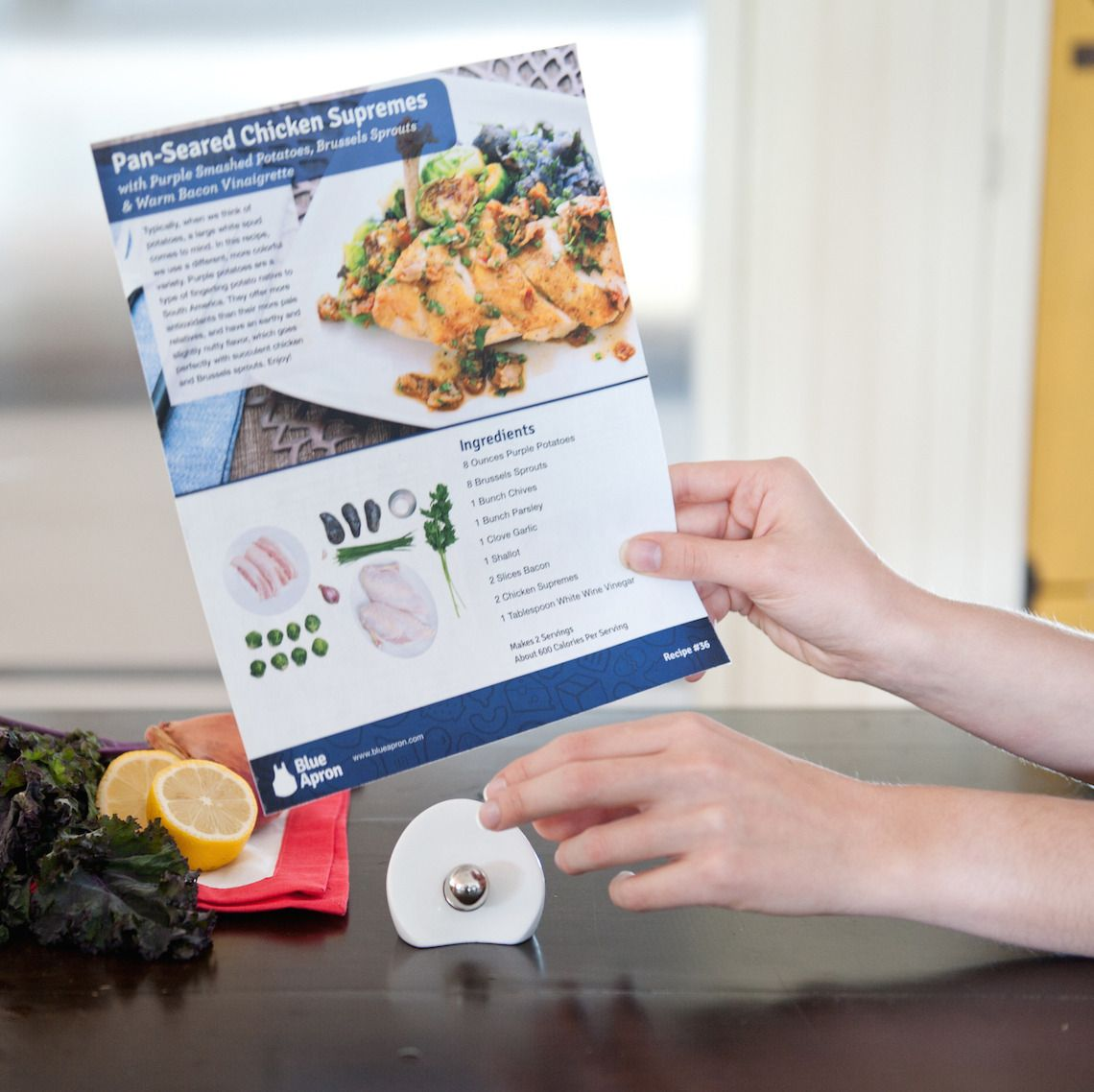 Blue apron recipe card holder for the kitchen pinterest blue apron recipe card holder forumfinder Choice Image