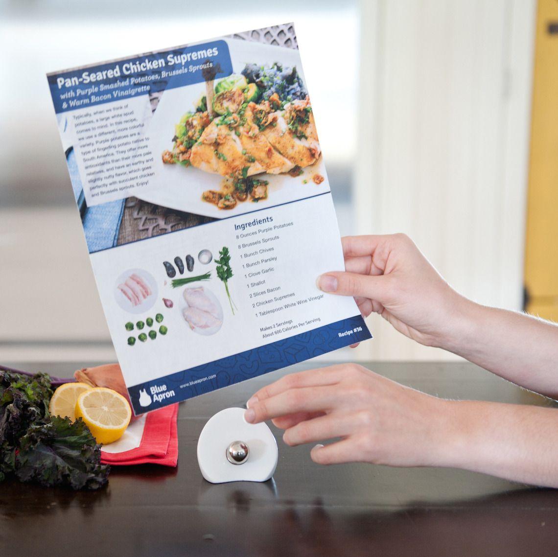 Blue apron zester - Blue Apron Recipe Card Holder